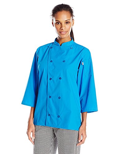 Uncommon Threads Unisex  Epic 3/4 Sleeve Chef Shirt, Cobalt, Small from Uncommon Threads