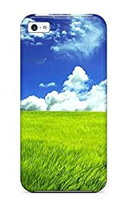 Defender Case For Iphone 5c, Grass Pattern