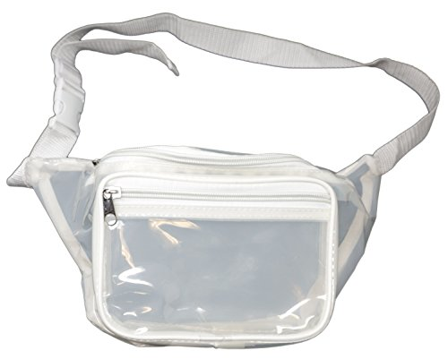 [Funny Guy Mugs Clear Transparent Fanny Pack - White] (Easy Halloween Costume Ideas For Guys)