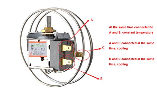 Amazon.com: AC 220V 6A 3 Pin Freezer Refrigerator Thermostat WDF-18 on freezer thermostat diagram, compact refrigerator freezer system diagram, refrigerator thermostat settings, basic freezer diagram, rv refrigerator diagram, refrigerator fan motor diagram, refrigerator temperature gauge, refrigerator thermostat replacement, refrigerator thermocouple diagram, refrigerator thermostat adjustment, frigidaire refrigerator thermostat diagram, refrigerator schematic diagram, refrigerator electrical diagram, commercial freezer defrost electrical diagram, refrigerator thermostat operation, refrigerator defrost cycle diagrams,