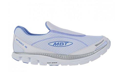 Mbt Speed Slip On Shoes - Donna - Bianco / Argento / Viola Chiaro, 13.0