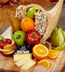 Cornucopia of Fruit Gift Basket (Coffee Baskets For Delivery)
