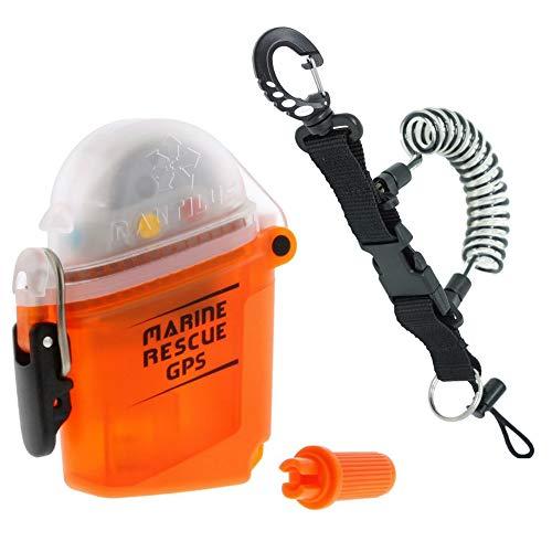 Nautilus LifeLine Marine GPS Rescue Radio w/ free Coil Lanyard (Radio Beacon)