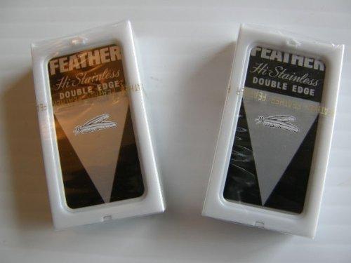 Feather Razor Blades Yellow NEW Hi-stainless Double Edge 10