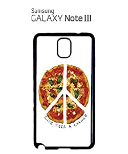 Give Pizza A Chance World Peace Mobile Cell Phone Case Samsung Note 3 Black