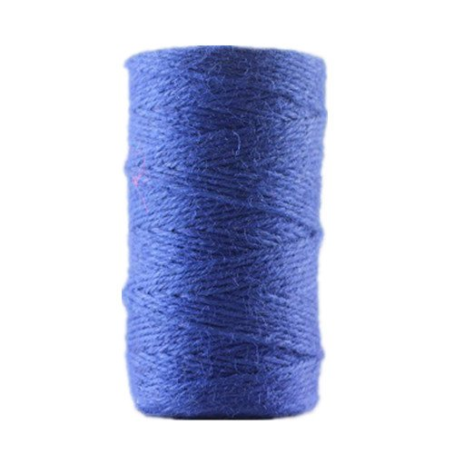 100 Meters Colourful Hemp Natural Jute Twine Hessian String Cord 2mm (Black) Y.P.Selected