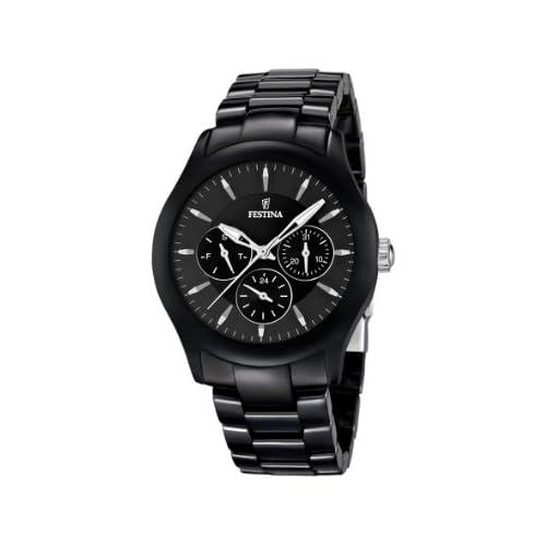 chollos oferta descuentos barato Festina Reloj Analógico para Unisex de Cuarzo con Correa en Cerámica F16639 2