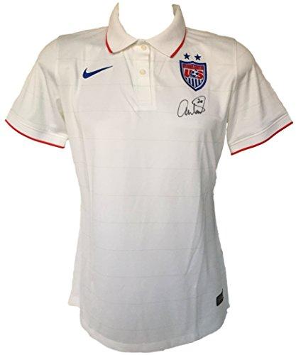 Abby Wambach Signed Authentic Team USA Soccer Jersey Medium PSA