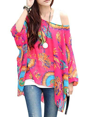 Sexy Bohemian Hippie Batwing Sleeve Chiffon Blouse, used for sale  Delivered anywhere in USA
