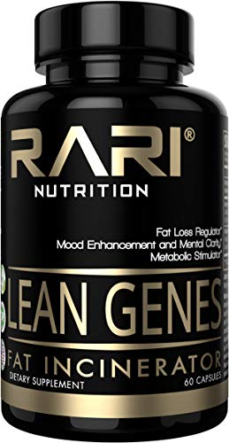 RARI Nutrition - Lean Genes - 100% Natural Fat Burner and Appetite Suppressant - Mood Enhancement - Men and Women - Keto and Vegan Friendly - No Shakes or Jitters - Vegetable Capsules - 60 Count
