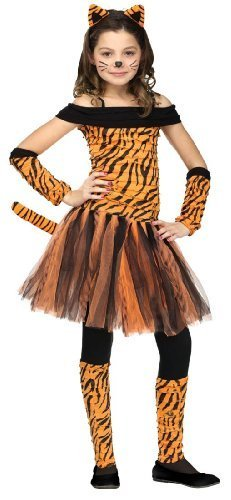 (Fun World Little Girl's Tigress Childrens Costume, Large, Multicolor)