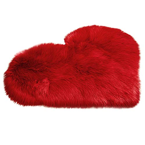 (Digood Heart Shaped Love Area Rug, Warm Chic Style Cozy Shaggy Floor Mat Area Rugs Home Girls Room Decorator Super Soft Carpets Kids Play Rug, 70 x 90 cm (G2))