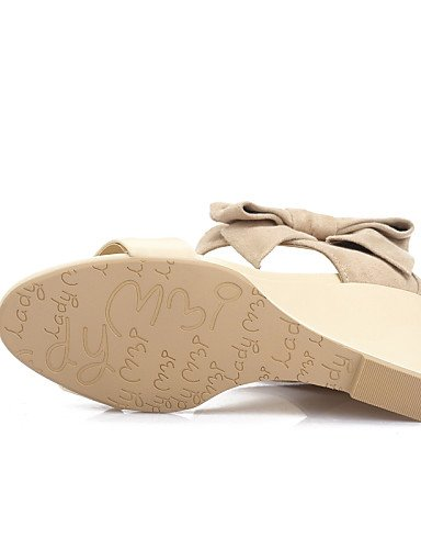 GGX/ Damenschuhe-Sandalen / High Heels-Outddor / Kleid / Lässig-Kunstleder-Keilabsatz-Wedges / Absätze / Zehenfrei-Rosa / Lila / Mandelfarben pink-us11 / eu43 / uk9 / cn44