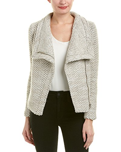cupcakes and cashmere Women's Dallas Textured Wool Blend Zip Jacket, Latte, (Textured Wool Coat)