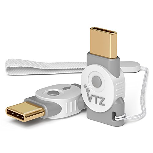 Volutz USB C Adapter auf Micro USB – OTG Datentransfer und Aufladung, verwandelt USB Type-C Input in Micro-USB für Samsung Galaxy S9/S8/A5/A3 2017/Huawei/MacBook Pro 2016 UVM – 2er Set (Ghost-White)