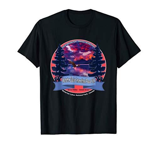Waterton Glacier International Peace Park  Souvenir T-Shirt