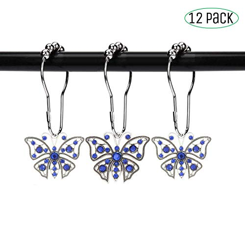 Butterfly Shower Curtain Hooks - Butterfly Shower Curtain Hooks Rings- Antique