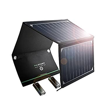 RAVPower 16W Solar Charger with Dual iSmart USB Ports
