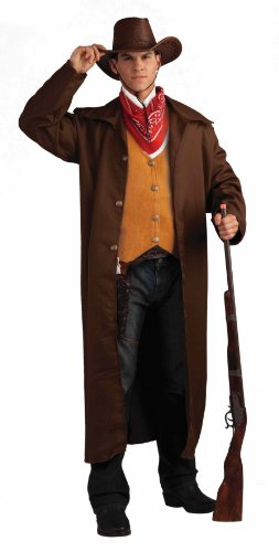 Wyatt Earp Costumes (Men's Gunfighter Costume, Brown/Beige, One Size)