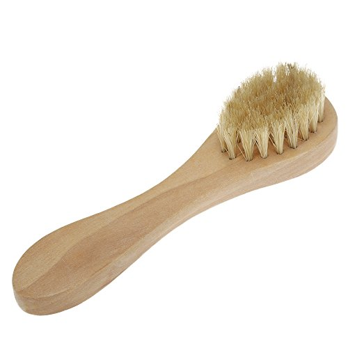 Wooden Firm Boar Bristle Beard Brush Long Handle Mustache Beard Men's Shaving Brush Facial Cleaning Hair Brush Shaver Tools
