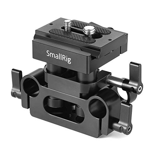 SMALLRIG Universal 15mm Rail Support System with 15mm Rod Clamp and Quick Release Plate - 2272 ()