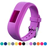 Garmin Vivofit JR Replacement Strap - iFeeker Accessory Soft Silicone Metal Clasp Watch Buckle Wrist Strap Watch Band Bracelet Holder Case Pouch for Garmin Vivofit Jr. Motivator and Activity Tracker Junior Kids Fitness