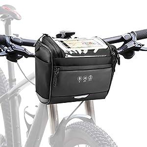 CestMall 3.5L Fahrradtsche zur Befestigung am Lenker, mit abenehmbaren Schultergurt. Fahrrad Lenkertasche Wasserdicht…