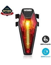 OUTERDO Rücklicht Fahrrad, StVZO Zugelassen Fahrradrücklicht USB aufladbares Fahrrad-Licht Helle LED Fahrrad Rückleuchten mit 220 Grad Weitwinkelsicht, Mountainbike-Licht Wasserdicht IPX4