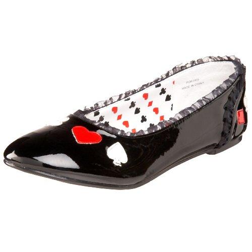Alice (Black) Patent Flat Shoes アリス(ブラック)特許大人用フラットシューズ♪ハロウィン♪クリスマス♪7