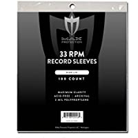 500 (5 Packs) 12' 33 RPM Record Outer Sleeves - INDUSTRY STANDARD - 12 3/4' X 13'.