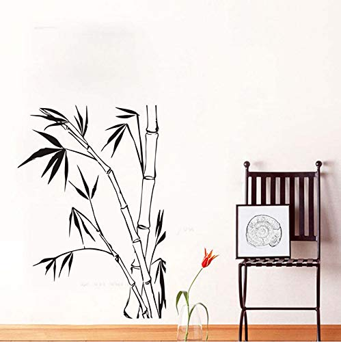 hwhz 82 X 52 cm Bamboo Wall Stickers for Living Room Wall Decoration for Home DIY Wall Art Decals Wallpaper Posters Home Decoration -