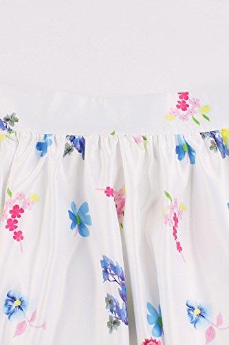 Poche Femme MisShow 50 Fleur Swing anne Rose Pliss avec Jupe Imprime Florale Vintage Rockabilly PpBqZPx