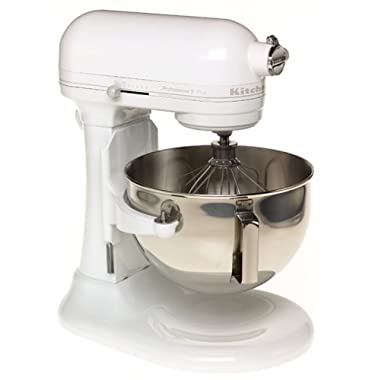 KitchenAid KV25GOXWW Professional 5 Plus 5-Quart Stand Mixer, White on White