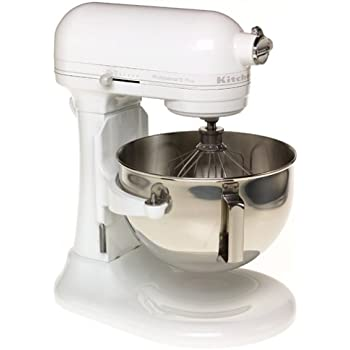 Refurbished Kitchenaid Mixer >> Amazon.com: KitchenAid KSM500PSWH Pro 500 Series 10-Speed 5-Quart Stand Mixer, White: Electric ...
