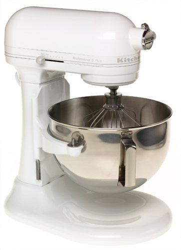 KitchenAid Professional 5 Plus Series Stand Mixers   White On White