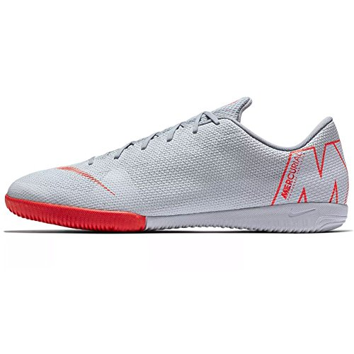 Nike Unisex-Erwachsene Vapor 12 Academy Ic Fitnessschuhe, Mehrfarbig (Wolf Grey/Lt Crimson/Pure Platinum 060)