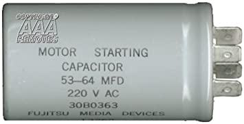 BlueCatELE 55 MFD Garage Door Opener Capacitor Compatible for Liftmaster 30B532