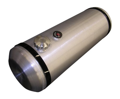 10x33 End Fill Spun Aluminum Gas Tank with Site Gauge- 11 Gallon - Trike - Offroad - Ratrod - Hotrod - Dunebuggy - Made in the USA!