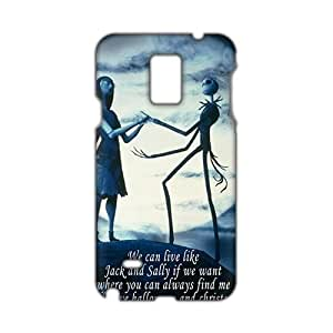 Angl 3D Case Cover Cartoon Halloween Nightmare Before Christmas Phone Samsung Galxy S4 I9500/I9502