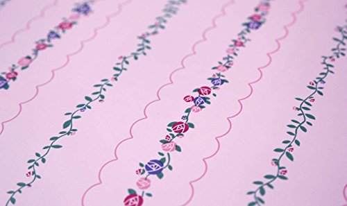 (St. James / York Brothers & Sisters IV BT2790 Hello Kitty Stripe Wallpaper, Pink)