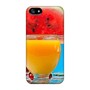Waterdrop Snap-on Food Drinks Fruit Juices Case For Iphone 5/5s