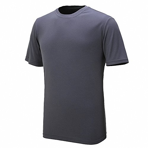 Maoko Mens Sports Short Sleeve Polyester T-Shirt,Running T Shirts for Boys Quick Drying Gray