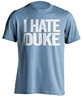 Beef Shirts I Hate Duke - Haters Gonna Hate Shirt - Blue and White Versions -
