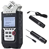 Zoom H4n PRO 4-Channel Handy Recorder Interview Microphone Kit with Omnidirectional and Cardioid XLR Lavalier Microphones