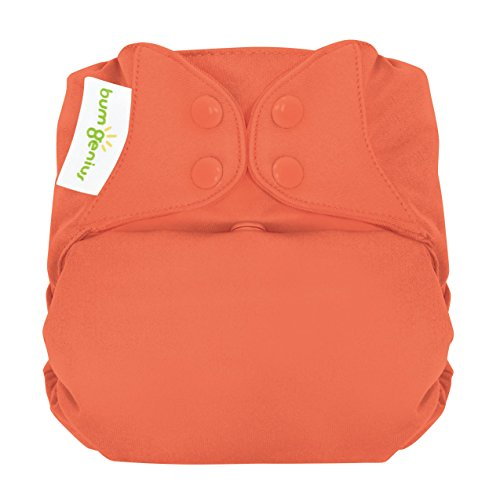 bumGenius Elemental 3.0 All-in-One One-Size Cloth Diaper with Organic Cotton (Kiss)