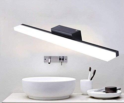 Espejo de baño Energía medio ambiente a prueba de agua de luz LED de iluminación Vida Una Friendlyeasy Installationno zumbador Sounduniform Distribución Iluminación (Color : White Light-100cm) Warm Light-40cm