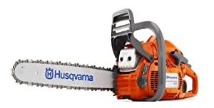 Husqvarna 450E-18SAW 18-Inch 50.2cc X-Torq 2-Cycle Gas Powered Chainsaw With Smart Start