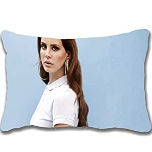 2015 Hot Sale Design Celebrity Zippered Pillows 20 X 30 inch Lana Del Rey With Golden Earrings Celebrity Wallpaper Pillowcase Decorative Cotton Polyester Throw Pillow Case Cushion Cover (Two sides)