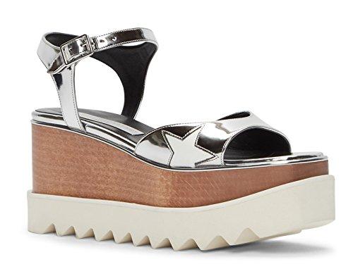 Model 453590 8171 Vegan Silver Number Shoes W0zr5 Wedges Mccartney Sandals Stella x7Zvqxw