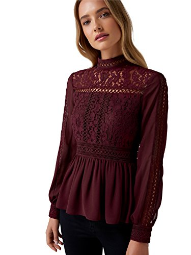 Ever New Womens Luna Lace Bodice Trim Detail Blouse for sale  Delivered anywhere in Canada